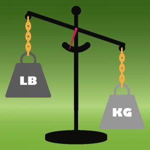 هر کیلو چند پوند است؟