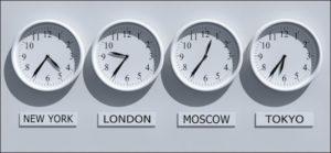 تفاوت ساعت کشورها با ایران