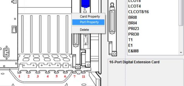 گزینه port property را انتخاب کنید